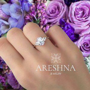 1.5ct Lab Diamond Oval Cut Engagement Ring